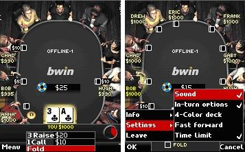 bwin Mobile Poker Screenshots